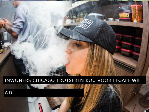 Inwoners Chicago trotseren kou voor legale wiet