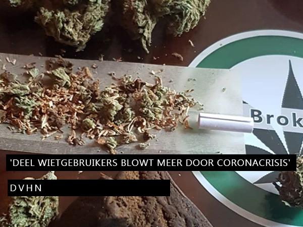 'Deel wietgebruikers blowt meer door coronacrisis'