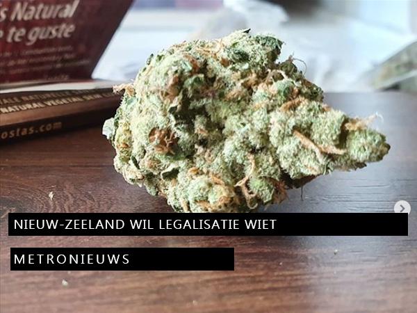 Nieuw-Zeeland wil legalisatie wiet