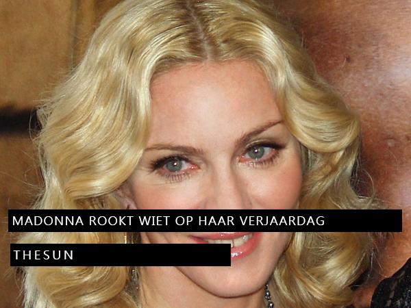 Madonna rookt joint op verjaardag