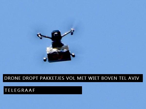 Drone dropt pakketjes vol met wiet boven Tel Aviv