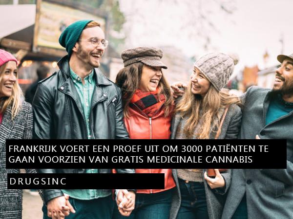 Frankrijk voert een proef uit om 3000 patiënten te gaan voorzien van gratis medicinale cannabis
